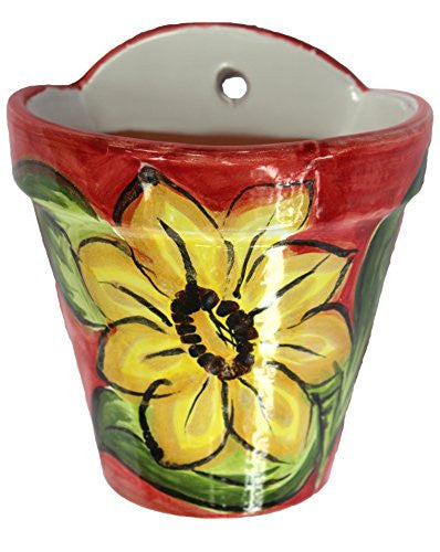 Wall pot from Spain - Spanish Sunflower design