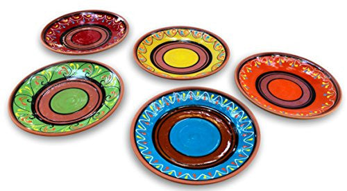 European sized, hand painted terracotta dinner plates - from Cactus Canyon Ceramics