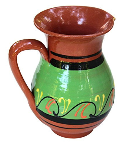 Green Terracotta Pitcher - Spanish pottery from Cactus Canyon Ceramics
