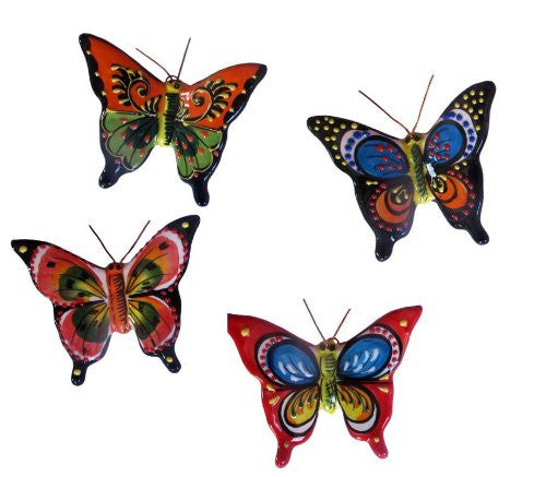 Ceramic butterflies - hand painted in Spain from Cactus Canyon Ceramics