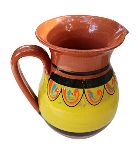 Terracotta yellow pitcher - from Cactus Canyon Ceramics