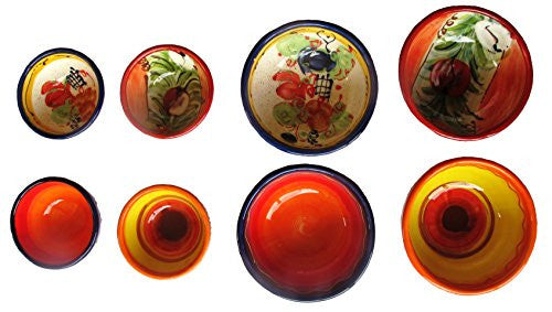 Spanish salsa and condiment bowl set