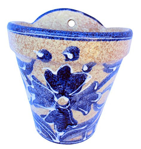 Wall pot - hand painted in Spain - Spanish Blue