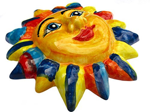 Jester Sun - hand painted ceramic sun from Andalusia, Spain