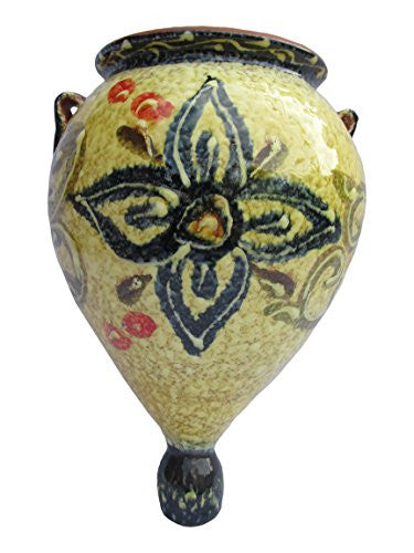 Spanish orza wall pot - Honey design from Cactus Canyon Ceramics