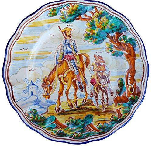 Decorative Plate - Don Quixote & Sancho Panza (Spear Down)