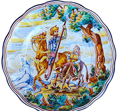 Don Quixote decorative plate, with Sancho Panza - from Cactus Canyon Ceramics