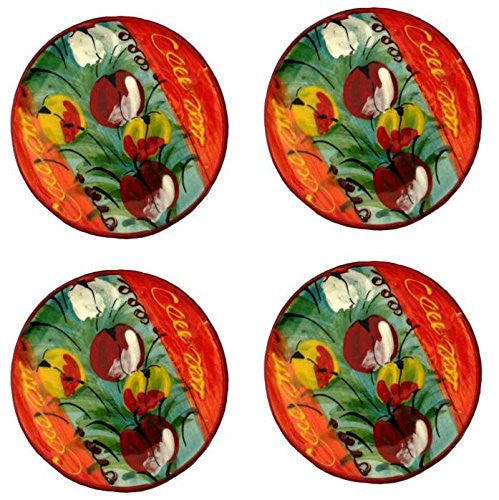 Tulip painted coasters - from GringoCool