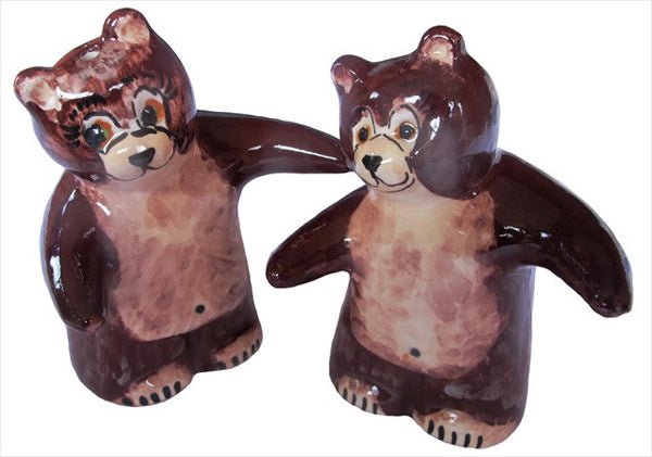 Brown Salt & Pepper Shaker Set (Brown Bears) - Hand Painted From Spain