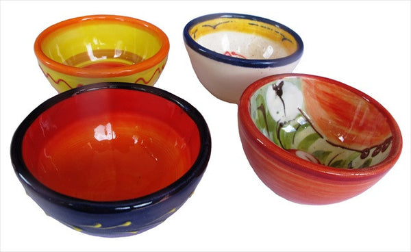 Set of 8 Salsa & Condiment Bowls - 4 Different Designs (Cordoba Collection)