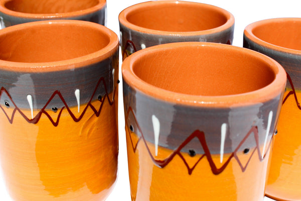 Sevilla Cups, Set of 5 - Hand Painted From Spain