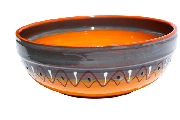 Rawhide Terracotta Deep Serving Dish - Hand Painted From Spain