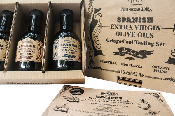 Starter kit of Spanish extra virgin olive oils