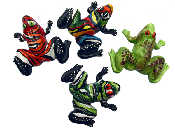 Mr. Amazon Frog - Ceramic Frog Hand Painted In Spain