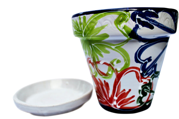 Hand painted Mexican flower pots from Cactus Canyon Ceramics