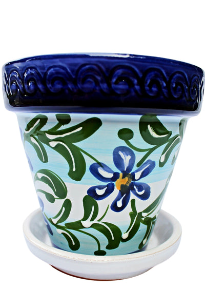 Flower pot for interior use from Cactus Canyon Ceramics