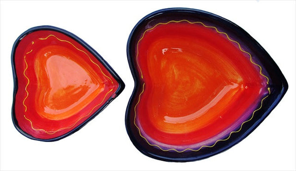 Spanish Heart Shaped Bowl Set of 2 (Luna Design)