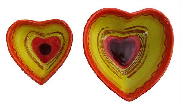 Spanish Heart Shaped Bowl Set of 2 (Sol Design)