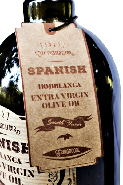 Hojiblanca Spanish Extra Virgin Olive Oil tag