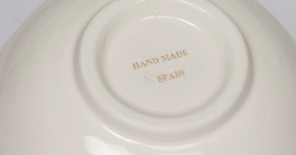 Ceramic Bowls Set of 3 Soup/Salad - Hand Painted From Spain - Sky Design