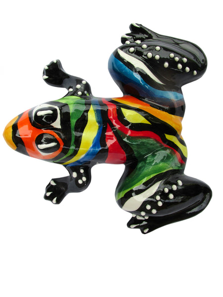 Mr. Rainbow Frog - Ceramic Frog Hand Painted In Spain