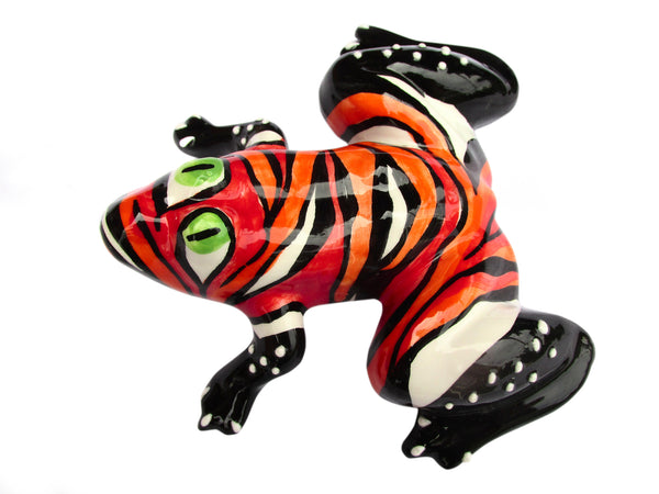 Miss Fire Frog - Ceramic Frog Hand Painted In Spain