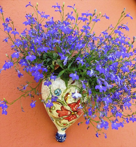 Wall Planter - Spanish Orza (Blue Treasure) - Hand Painted in Spain