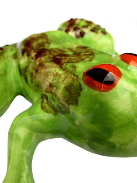 Miss Pond Frog - Ceramic Frog Hand Painted In Spain
