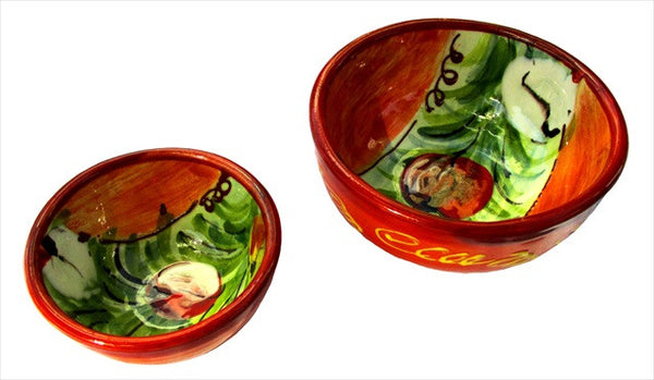 Tulip design on a salsa and condiment bowl set - Cordoba Collection