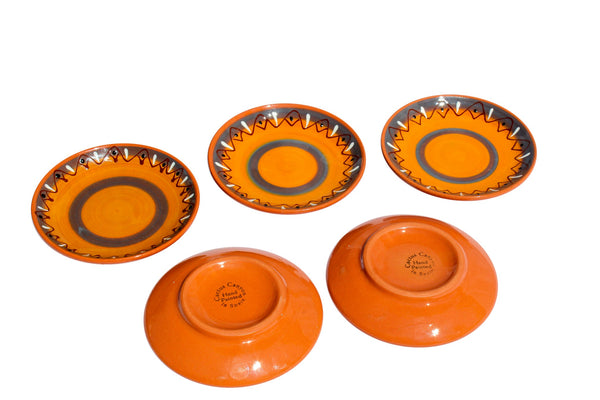 Sevilla Tapa Plates Set of 5 - Hand Painted From Spain
