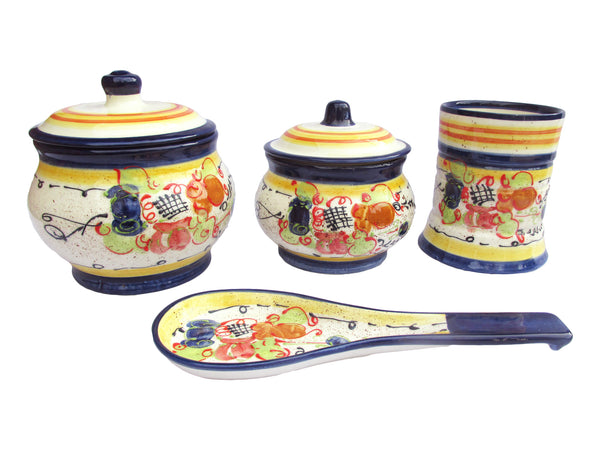 Ceramic kitchen set with utensil jar - Splash! design
