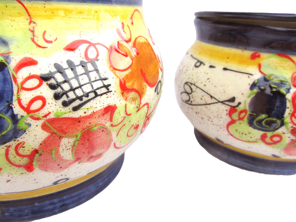 Storage Jar - 1 Quart - Hand Painted in Spain - Splash! Design