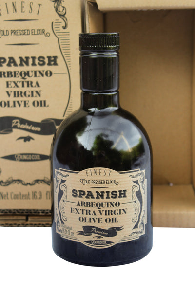 Arbequina Spanish Extra Virgin Olive Oil packaging
