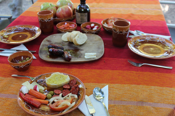 Spanish food on a table