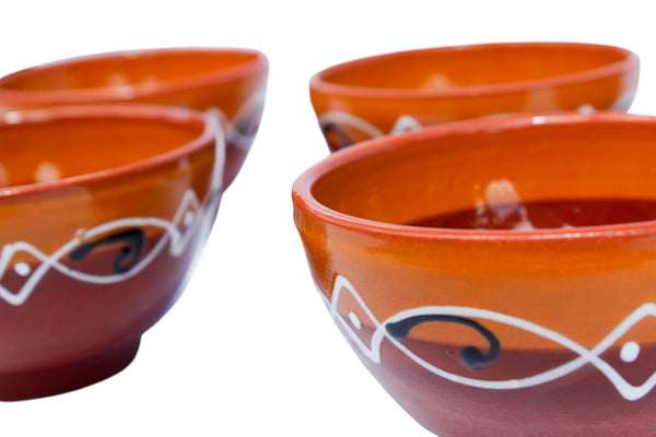 Spanish Sunset Salsa Bowl Set of 5 - Hand Painted From Spain