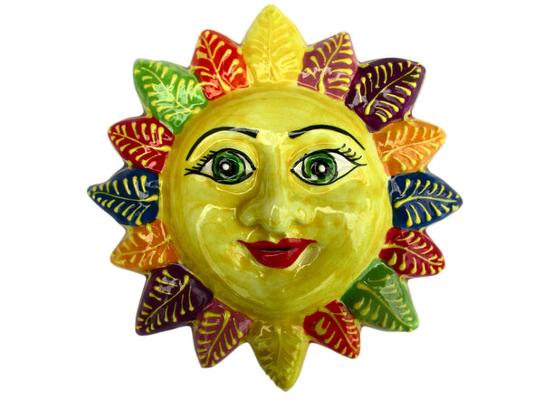 Miss Spring Sun! - Ceramic Sun Hand Painted In Spain