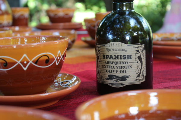 Spanish Extra Virgin Olive Oil on a table