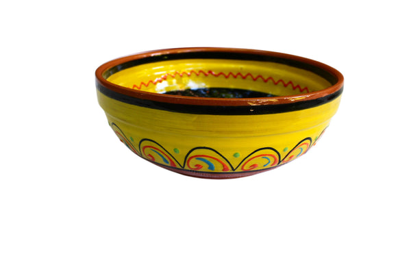 Terracotta Yellow, Deep Serving Dish - Hand Painted From Spain