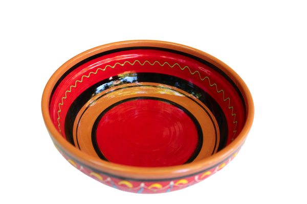 Terracotta Red, Deep Serving Dish - Hand Painted From Spain