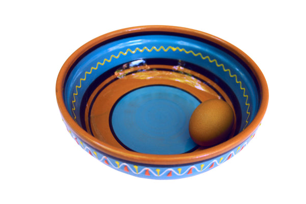 Terracotta Blue, Deep Serving Dish - Hand Painted From Spain