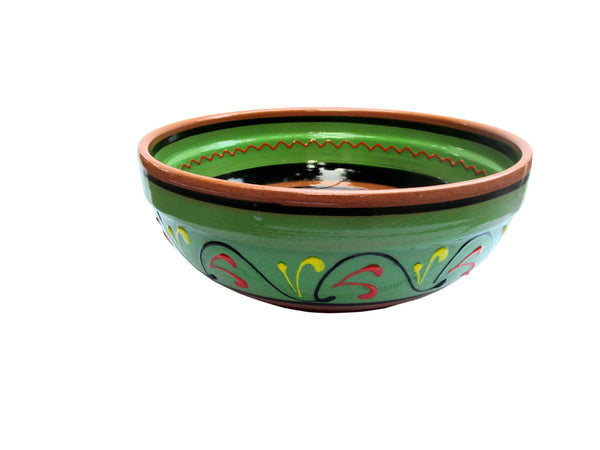 Terracotta Green, Deep Serving Dish - Hand Painted From Spain
