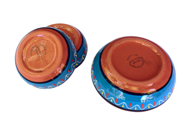 Terracotta Blue - Festive Set - Hand Painted From Spain