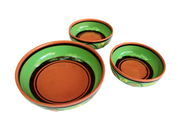 Terracotta Green - Festive Set - Hand Painted From Spain