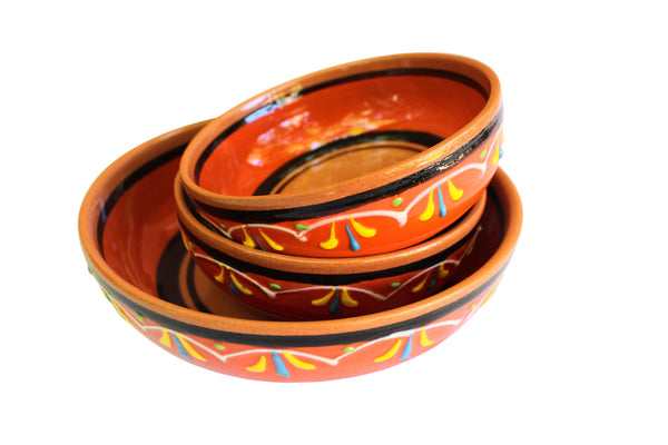 Terracotta Orange - Festive Set - Hand Painted From Spain