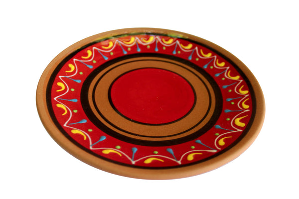 Terracotta Salad Plates, Set of 5 - Hand Painted From Spain