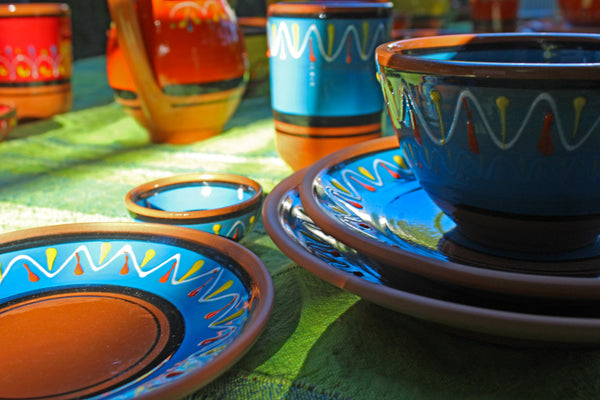 Terracotta Yellow - Festive Set - Hand Painted From Spain