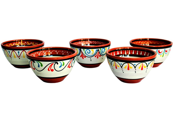 Terracotta White Breakfast Bowls Set of 5 - Hand Painted From Spain  sc 1 th 183 & Spanish Pottery Spanish Ceramics \u0026 Spanish Extra Virgin Olive Oil ...
