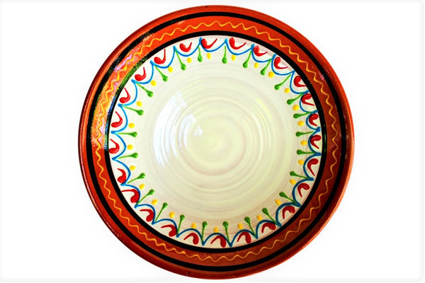Terracotta White Small Dinner Plates Set of 5 (European Size) - Hand Painted ...  sc 1 st  Cactus Canyon Ceramics & Terracotta White Small Dinner Plates Set of 5 (European Size ...