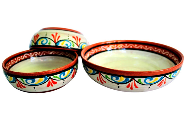 Terracotta White - Festive Dipping Set - Hand Painted From Spain