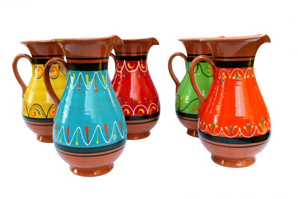 Terracotta Blue, 2 Quart Pitcher - Hand Painted From Spain